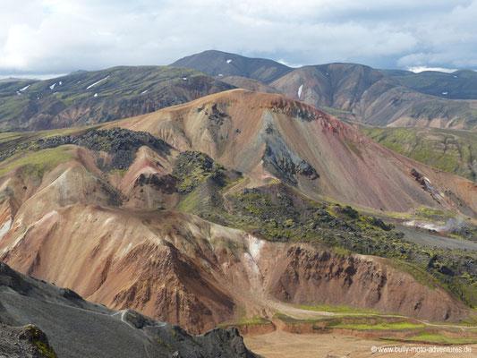 Island - Laugavegur - Landmannalaugar - Aufstieg zum Bláhnúkur