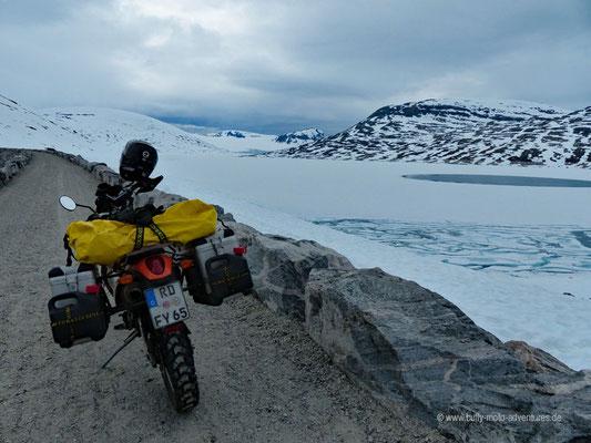 Norwegen - Jostedalsbreen Nationalpark - Styggevatnet Stausee