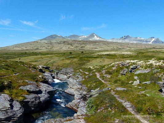 Norwegen - Rondane Nationalpark - Wanderung zurück zum Parkplatz