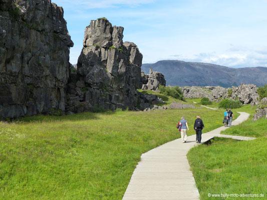 Island - Þingvellir Nationalpark - Schlucht Allmannagjá
