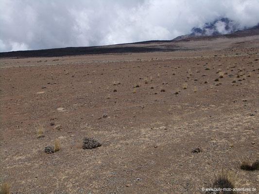 Tansania - Kilimanjaro - Marangu-Route - Wanderung zu den Kibo Huts - Lavawüste