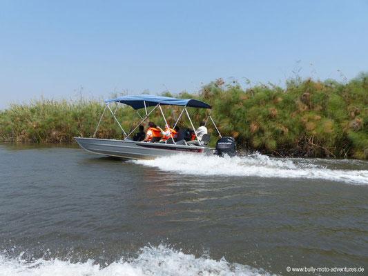 Botswana - mit dem Boot durch das Okavango Delta