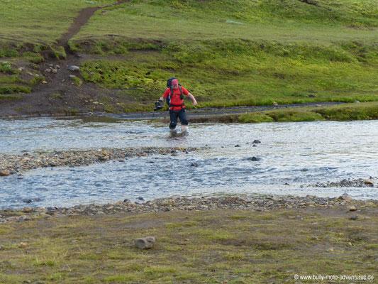 Island - Laugavegur - Etappe 3 - Álftavatn nach Emstrur - 1. Furt nach Álftavatn