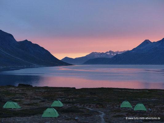 Grönland - Sonnenuntergang im Tasermiut Fjord