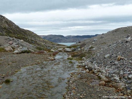Grönland - Fjord Qalerallit Imaa - Durch Sanddünen geprägtes Tal