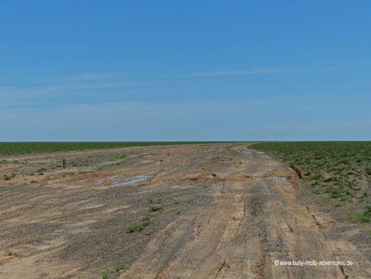 Mongolei - Piste zwischen Bayanzag und Mandal-Ovoo