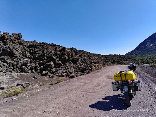 Chile - Parque Nacional Conguillío - Straße R-925-S -Lavafeld