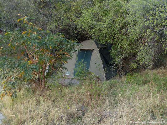 Bostwana - mein Zelt in Jumbo Junction