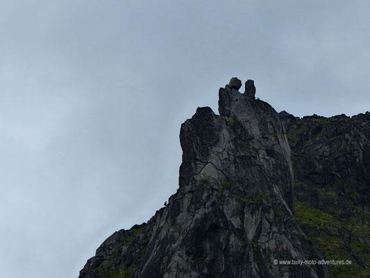 Norwegen - Lofoten - Wanderung um Svolvær - Blick auf den Svolværgeita