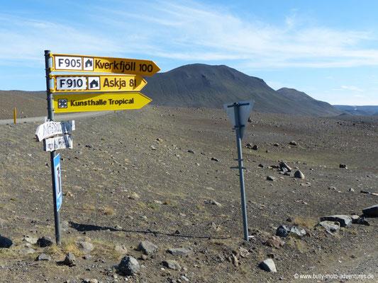 Island - Kreuzung der Straßen 901 und F905