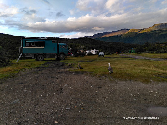 Argentinien - Parque Nacional Tierra del Fuego - Camping Parque