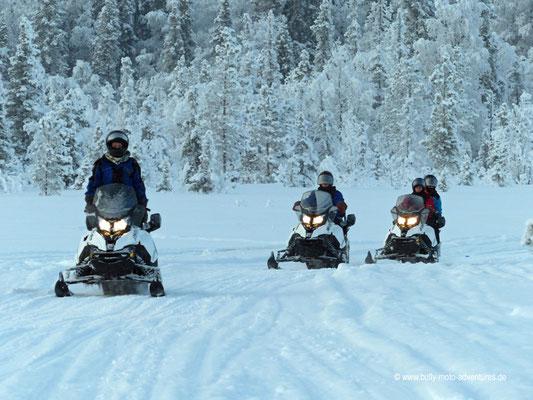 Finnland - Lappland - Auf Schneemobil-Safari