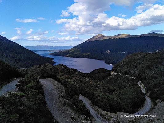 Argentinien - Paso Garibaldi - Blick auf den Lago Escondido