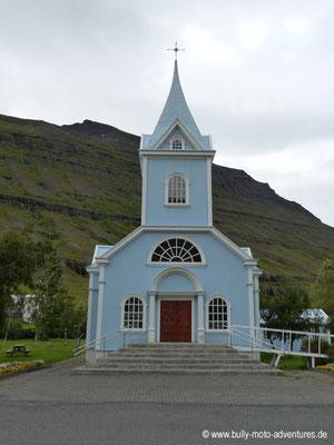 Island - Seyðisfjörður - Blaue Kirche