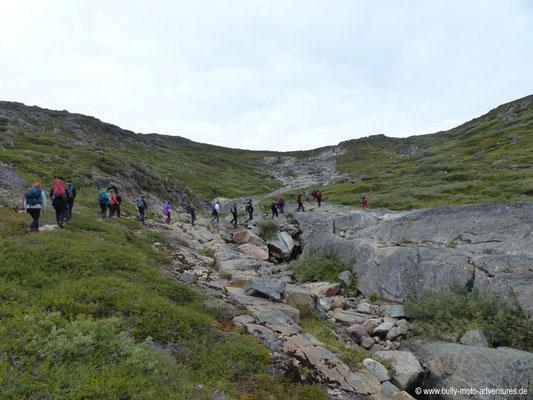 Grönland - Wanderung auf eine Anhöhe