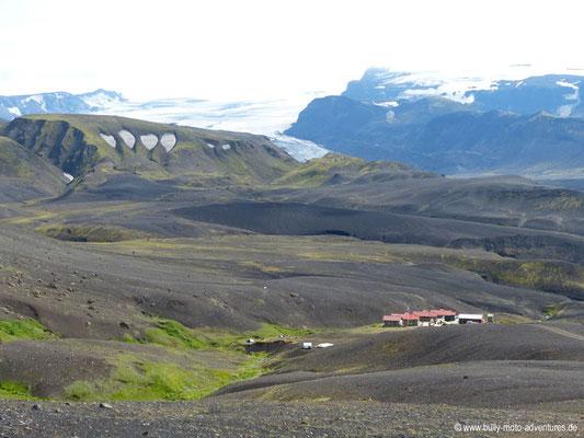 Island - Laugavegur - Etappe 3 - Álftavatn nach Emstrur - Blick auf Emstrur