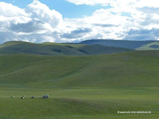 Mongolei - Zelten zwischen Bat-Ulzii und Tsenkher
