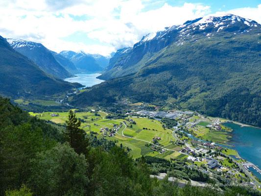 Norwegen - Klettersteig Via Ferrata Loen - Blick auf Loen