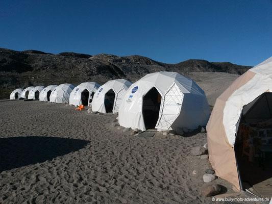 Grönland - Zeltcamp im Fjord Qalerallit Imaa