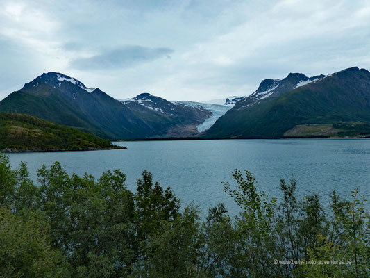 Norwegen - Saltfjellet-Svartisen Nationalpark - Blick auf den Svartisen Gletscher