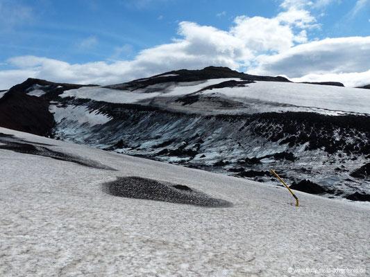 Island - Fimmvörðuháls - Schnee- und Eisfeld