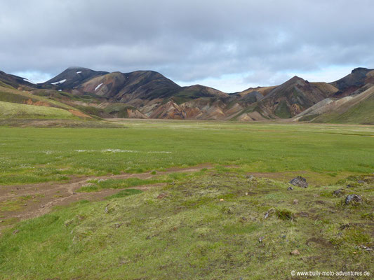 Island - Laugavegur - bunte Rhyolithberge