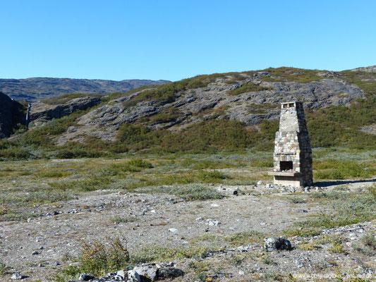 Grönland - Narsarsuaq - Kamin des alten Krankenhauses