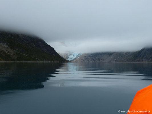 Grönland - Blick auf den Gletscher am Ende des Tasermiut Fjords