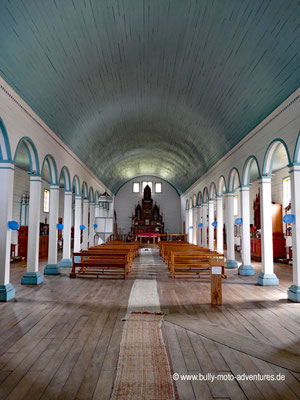Chile - Insel Chiloé - Holzkirche in Tenaún