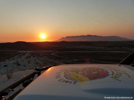 Namibia - Sonnenuntergang auf der Abraumhalde in Uis