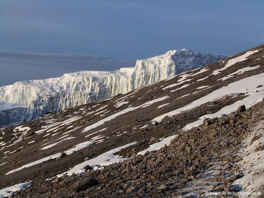 Tansania - Kilimanjaro - Marangu Route - Wanderung zum Uhuru Peak - Gletscher