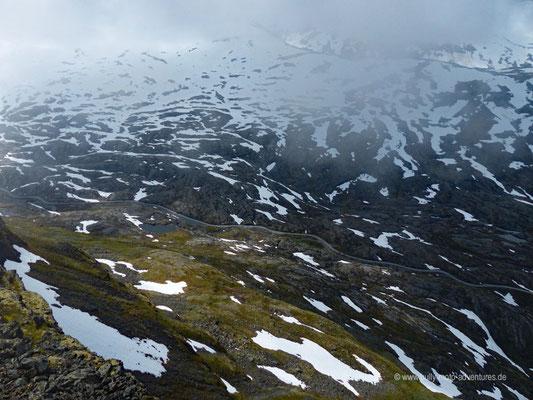 Norwegen - Straße 63 - Landschaftsroute Geiranger-Trollstigen - Aussichtspunkt Dalsnibba