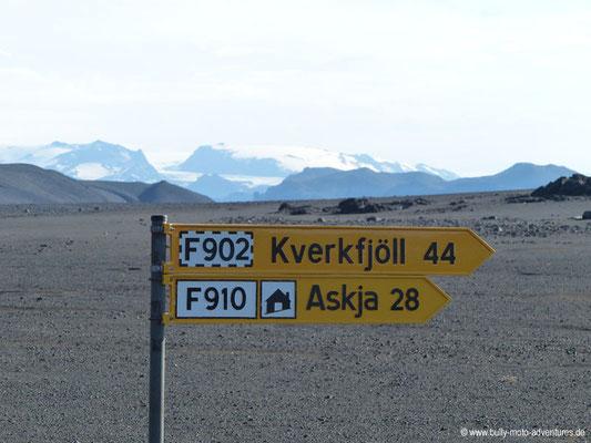 Island - Straße F910 - Kverkfjöll
