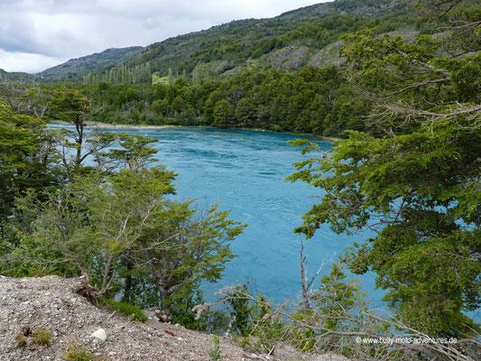 Chile - Straße 7 - Blick auf den Río Baker