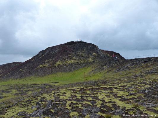 Island - Blick auf den Vulkan