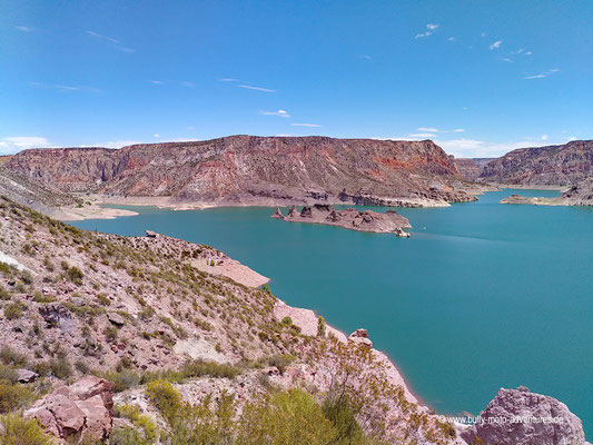 Argentinien - Cañon del Atuel - Stausee Valle Grande