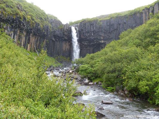 Island - Skaftafell Nationalpark - Wasserfall Svartifoss