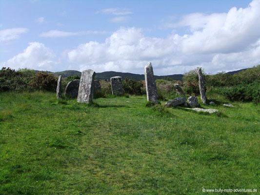 Irland - Steinkreis von Derrennataggart - Castletownbere -  Co. Kerry