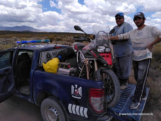 Argentinien - Straße 180 südlich von El Nihuil - Rücktransport nach El Nihuil