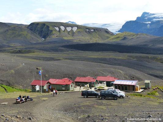 Island - Laugavegur - Wanderhütte Emstrur