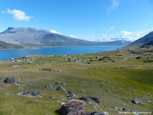 Grönland - Wanderung von Itilleq nach Igaliku -Blick auf Igaliku