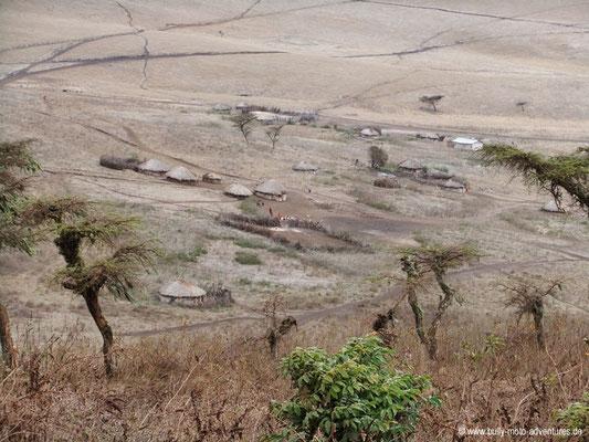 Tansania - Safari-Tour - Massai-Dorf (Ngorongoro Conservation Area)