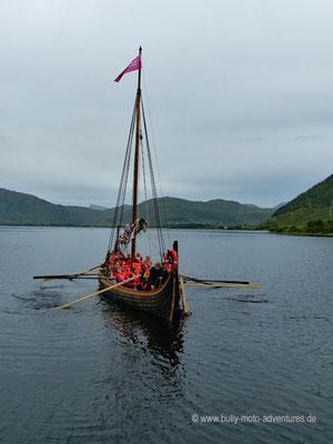 Norwegen - Straße E10 - Landschaftsroute Lofoten - Vikingermuseum Lofotr