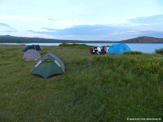 Island - Þingvellir Nationalpark - Campingplatz Vatnskot