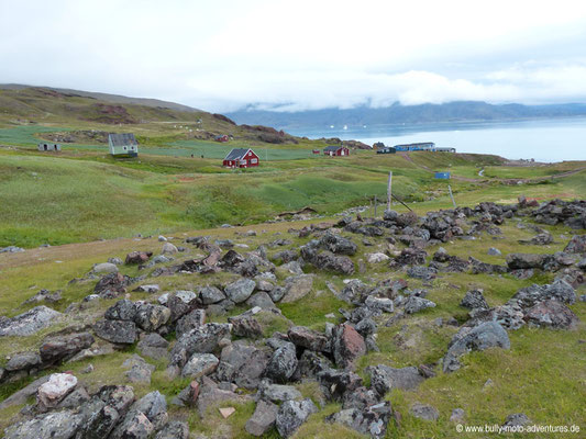 Grönland - Brattahlíð - Ausgrabungen - Ruinen