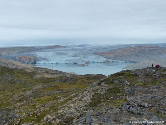 Grönland - Blick auf den Gletscher Qalerallit