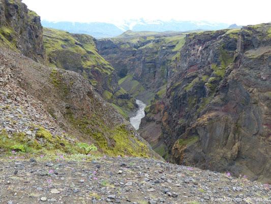 Island - Laugavegur - Etappe 3 - Álftavatn nach Emstrur - Canyon Markafljótsgljúfur