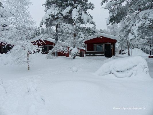 Finnland - Hotel Harriniva - Hütten