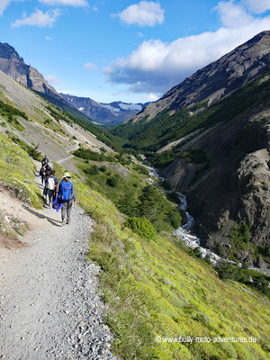 Chile - Parque Nacional Torres del Paine - W-Trek - Wanderung zur Base de las Torres - Windy Pass