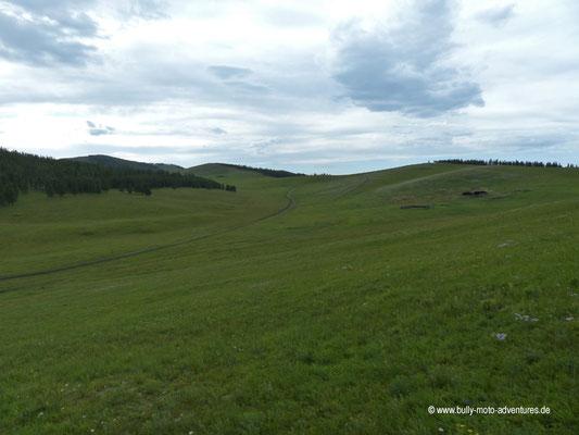 Mongolei - Zelten im Orkhon-Tal